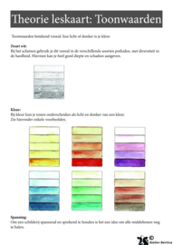 Stap voor stap tutorial: Kleur tonen maken met aquarelverf