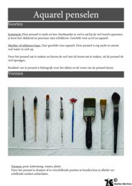 Stap voor stap tutorial: penseel oefeningen met aquarelverf