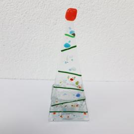 Sfeerlichtje kerstboom glasfusion