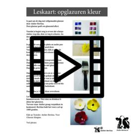 les live /tutorial keramiek: Opglazuren