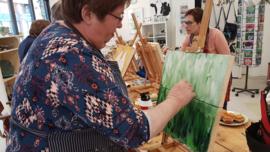 Zaterdag  8 februari: workshop schilderen in Raalte Waag 10