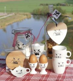 schapen ontbijt set