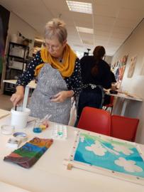 Zijde schilderen workshop