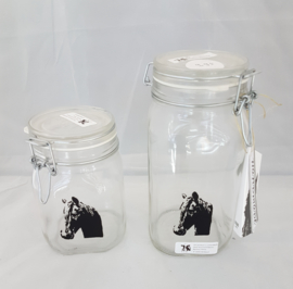 Storage jar / jug with horse (middle)