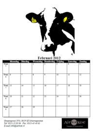 Opdracht: jaarkalender voor www.airkoe.nl