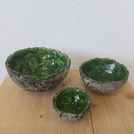 Set  groen schaalen keramiek