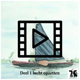 Live les / tutorial: luchtopzetten aquarel (zeilboot deel 1)
