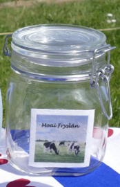 Weckpot /  voorraadpot met koeien (Moai Fryslân)