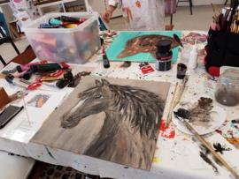 Resultaten: 2 mei 2018 workshop schilderen in Raalte Waag 10