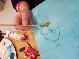 Resultaten: Zaterdag 28 januari 2017 workshop schilderen in Raalte Waag 10