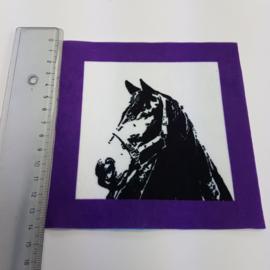 Paard met paars rand: stofje