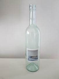Fles met winter aquarel : sfeerlicht, nootjes, suikerpot of vaasje.