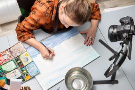 Skutsjes / zeilen aquarel schilderij