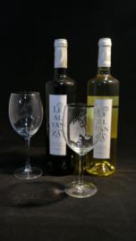Paarden wijnglas