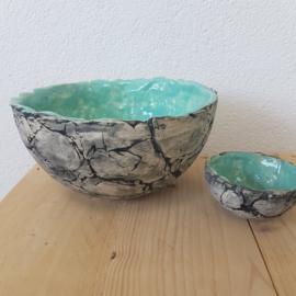 Set van 2 schalen keramiek
