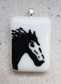 Paarden glazen hanger ketting atelier bertina