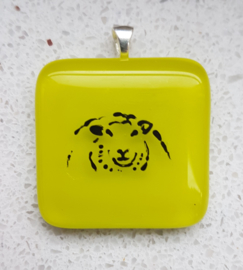 sheep glass pendant necklace atelier bertina