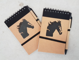 Note booklet horse
