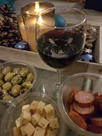 Schapen wijnglas