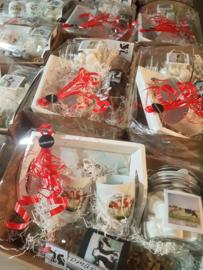 Prachtig Salland kerstpakket roodbont koeien