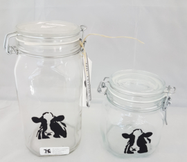 Jar with cow (small)
