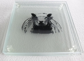 4 x glass coasters sheep
