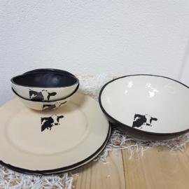 Koe servies set voor 2 personen