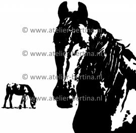 Paard acryl schilderij 2012