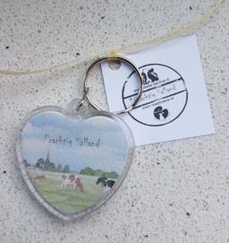 """Sleutelhanger """"Prachtig Salland"""" (Koeien landschap)"""