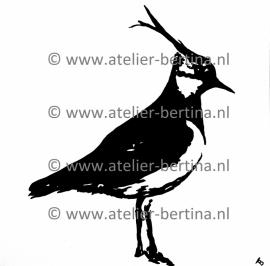 Schärfen / Kiebitz Acrylmalerei