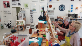 Resultaten zaterdag 12 oktober workshop schilderen in Raalte Waag 10
