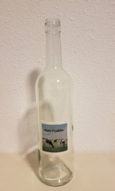 Fles met koeien aquarel : sfeerlicht, nootjes, suikerpot of vaasje. (Moai Fryslân)