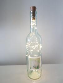 flessen lamp met led verlichting (tulpen)