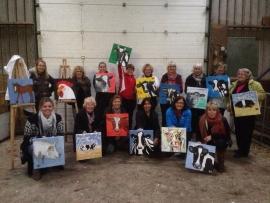 Resultaten 2013 Team uitje in de jongvee stal te Rohel