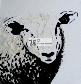 Sheep acrylic painting