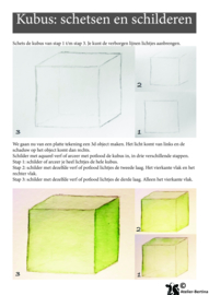 Stap voor stap tutorial: schetsen en schilderen kubus