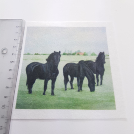 Friese paarden stofje 10 cm