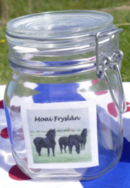 Weckpot /  voorraadpot met friese paarden (Moai Fryslân)