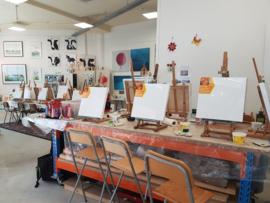 Individueel schilderij: acryl op steigerhout of canvas