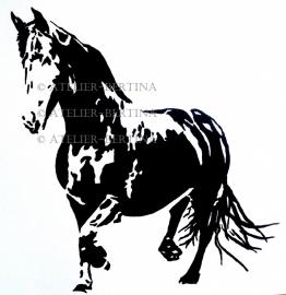 Pferdeacrylmalerei