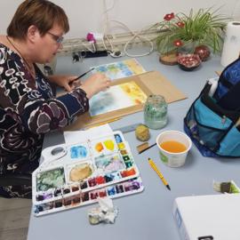 Resultaten mei 2021: workshop aquarel schilderen (op papier) in Raalte