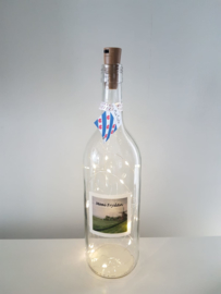 flessen lamp met led verlichting (molen Moai Fryslân)