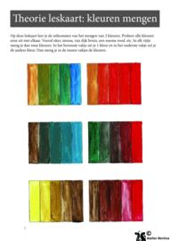 Gratis leskaart: kleurkaarten maken (2 kleuren mengen)
