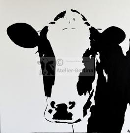Koe acryl schilderij