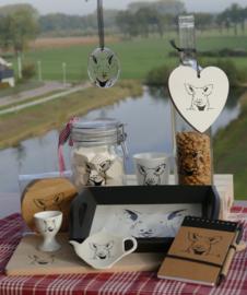 Varken kado/ cadeau / geschenk  (zwart wit)