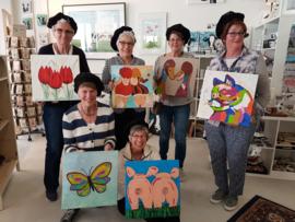 Resultaten: 7 april 2018  workshop schilderen op Waag10