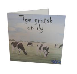 Tige grutsk op dy, kaart koeien