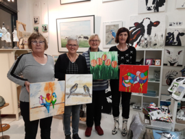 Resultaten 26 november 2018 workshop schilderen in Raalte Waag 10