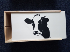 Theezakje houder en mok koe cadeau geschenk