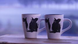 Mok met koe (2 stuks) geschenken/cadeau  pakket